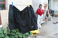 Drying swim trunks, drying bone - Bolivia - South America
