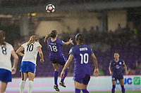 Orlando, FL - Saturday June 03, 2017: Rosie White, Maddy Evans during a regular season National Women's Soccer League (NWSL) match between the Orlando Pride and the Boston Breakers at Orlando City Stadium.