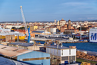 Port business and industry, Livorno, Tuscany, Italy