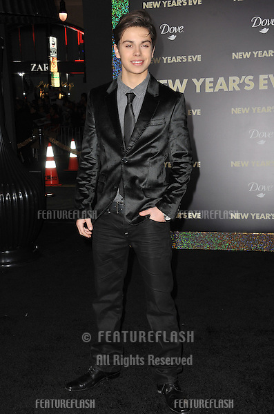 """Jake T. Austin at the world premiere of his new movie """"New Year's Eve"""" at Grauman's Chinese Theatre, Hollywood..December 5, 2011  Los Angeles, CA.Picture: Paul Smith / Featureflash"""