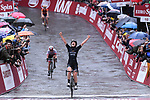 Elisa Longo Borghini (ITA) Wiggle High 5 team wins the 2017 Strade Bianche Women Elite race running 127km from Siena to Siena, Tuscany, Italy 4th March 2017.<br /> Picture: LaPresse/Gian Mattia D'Alberto   Newsfile<br /> <br /> <br /> All photos usage must carry mandatory copyright credit (&copy; Newsfile   LaPresse/Gian Mattia D'Alberto)