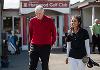 Sir Bob Charles and Tara Raj. Jennian Homes Harewood Open Golf, Charles Tour, Harewood Golf Club, Christchurch, Sunday 7th October 2018. Photo: Joseph Johnson/www.bwmedia.co.nz