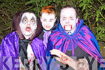 Richard Murphy, Freddie and Fred Browne Knocknagoshel offering a hand at the Knocknagoshel Halloween festival on Sunday night..
