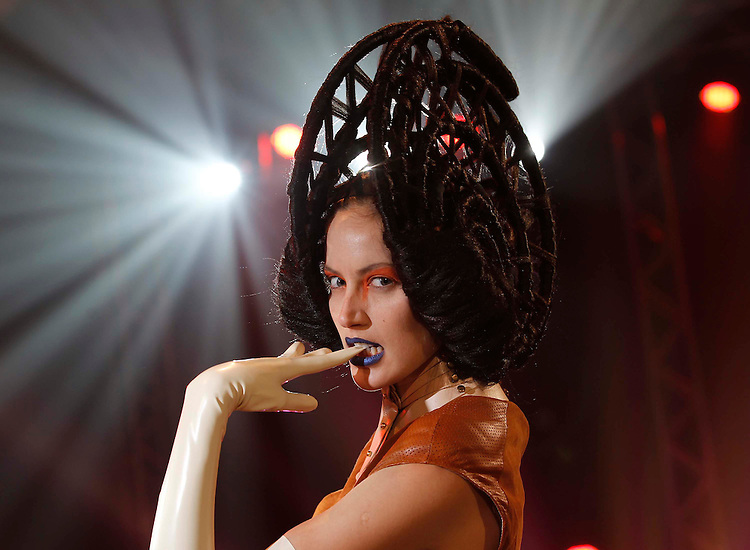 Isabelle Traber, pictured modelling looks from Zeba Hairdressing which showcased at the L'Oreal Professionnel Colour Trophy Grand Final Show.