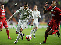 Real Madrid's Brazilian midfielder Casemiro and Sevilla´s midfielder N´Zonzi during the Copa del Rey soccer match between Real Madrid and Sevilla played at the Santiago Bernabéu stadium in Madrid, on January 4th 2017.