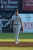 Nick Vilter (8) of the Tri-City Dust Devils in the field during a game against the Vancouver Canadians at Nat Bailey Stadium on July 23, 2015 in Vancouver, British Columbia. Tri-City defeated Vancouver, 6-4. (Larry Goren/Four Seam Images)