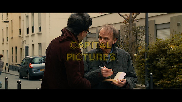 Michel Houellebecq<br /> in The Kidnapping of Michel Houellebecq (2014) <br /> (L'enl&egrave;vement de Michel Houellebecq)<br /> *Filmstill - Editorial Use Only*<br /> FSN-D<br /> Image supplied by FilmStills.net