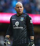 Brad Guzan of Aston Villa dejected - Barclay's Premier League - Manchester City vs Aston Villa - Etihad Stadium - Manchester - 05/03/2016 Pic Philip Oldham/SportImage