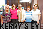 Phyllis Mitchell, Margaret McSweeney, Marg Healy, Mary Stack and Maureen Sugrue  enjoying the Sliabh Luachra Active Retired Network Tea Dance in An Riocht Castleisland on Sunday