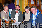 John Joe Brien, Brendan O'Shea, Michael Murphy and Donnie Morris Keel at the Castlemaine National School table quiz in the Anvil bar, Boolteens on Friday night   Copyright Kerry's Eye 2008