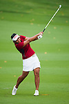 CHON BURI, THAILAND - FEBRUARY 17:  Numa Gulyanamitta of India plays a shoot on the 17th hole during day two of the LPGA Thailand at Siam Country Club on February 17, 2012 in Chon Buri, Thailand.  Photo by Victor Fraile / The Power of Sport Images