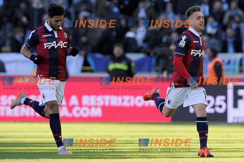 Esultanza Gol Emanuele Giaccherini Bologna Goal celebration <br /> Bologna 17-01-2016 Stadio Dall'Ara Football Calcio Serie A 2015/2016 Bologna - Lazio 2-2 Foto Insidefoto