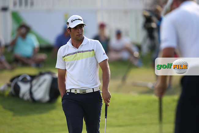 Par on the last to stay anchored at the top of the leaderboard with 5 others during Round Three of the Tshwane Open 2015 at the Pretoria Country Club, Waterkloof, Pretoria, South Africa. Picture:  David Lloyd / www.golffile.ie. 14/03/2015