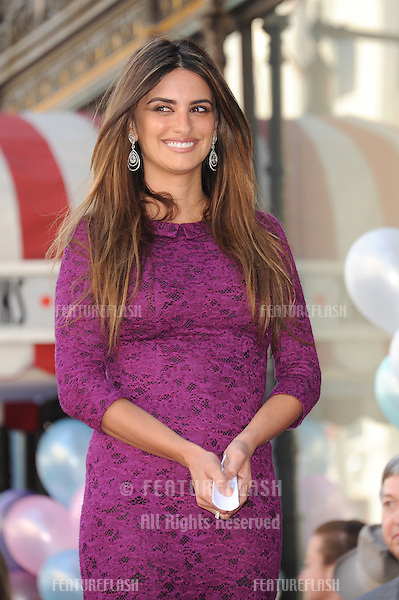 Actress Penelope Cruz on Hollywood Boulevard where she was honored with the 2,436th star on the Hollywood Walk of Fame..April 1, 2011  Los Angeles, CA.Picture: Paul Smith / Featureflash