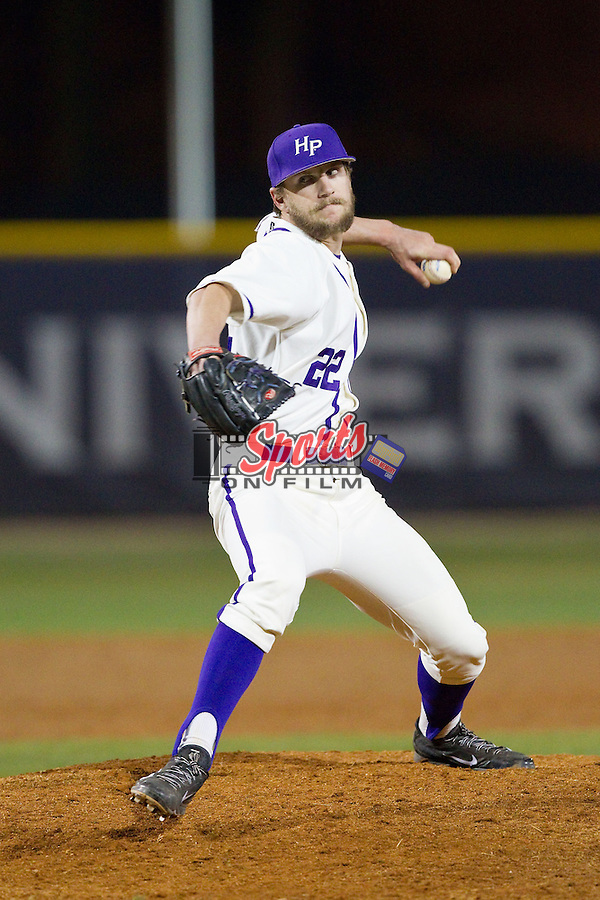 High Point Panthers relief pitcher Will Resnik (22) in action against the Coastal Carolina Chanticleers at Willard Stadium on March 15, 2014 in High Point, North Carolina.  The Panthers defeated the Chanticleers 11-8 in game two of a double-header.  (Brian Westerholt/Sports On Film)