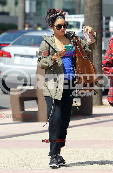 Vanessa Hudgens seen out and about on a hot summer day in a parker and with xxl suede leather bag. Los Angeles, California on 17.7.2012..Credit: Correa/face to face.. /MediaPunch Inc. ***FOR USA ONLY*** ***Online Only for USA Weekly Print Magazines*** /NortePhoto.com<br />