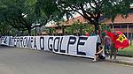 Manifestaçao  Interrompa o Golpe no TRF4, Porto Alegre. Rio Grande do Sul. 08.01.2018. Foto de Luiz Achutti.