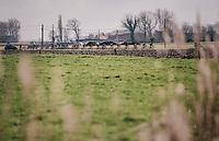 stretched peloton<br /> <br /> Driedaagse Brugge-De Panne 2018<br /> Bruges - De Panne (202km)