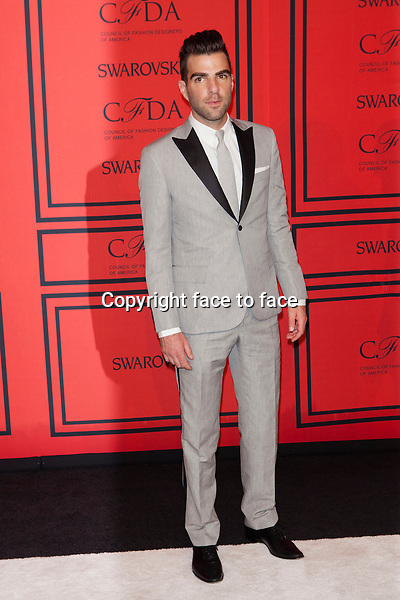 NEW YORK, NY - JUNE 3: Zachary Quinto at the 2013 CFDA Fashion Awards at Lincoln Center's Alice Tully Hall in New York City. June 3, 2013. <br />
