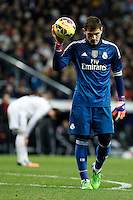Iker Casillas of Real Madrid during La Liga match between Real Madrid and Sevilla at Santiago Bernabeu Stadium in Madrid, Spain. February 04, 2015. (ALTERPHOTOS/Caro Marin) /NORTEphoto.com