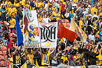 Sandy, UT - Saturday April 14, 2018: Fans during a regular season National Women's Soccer League (NWSL) match between the Utah Royals FC and the Chicago Red Stars at Rio Tinto Stadium.