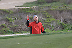 Bill Murray after getting out of sand trap at Monterey Peninsula Country Club