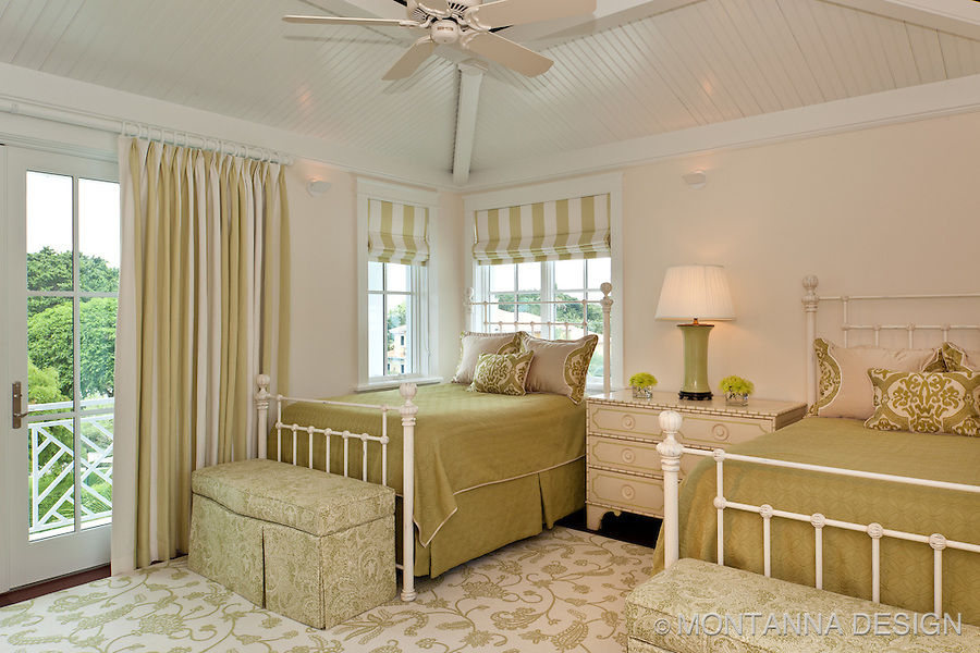 The fresh lime green creates such a fun and happy bedroom