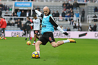 Jonjo Shelvey of Newcastle United during the warn up who starts for Newcastle United today during Newcastle United vs Southampton, Premier League Football at St. James' Park on 10th March 2018