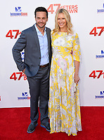 Chris J. Johnson &amp; Amy Laughlin at the Los Angeles premiere for &quot;47 Meters Down&quot; at the Regency Village Theatre, Westwood. <br /> Los Angeles, USA 12 June  2017<br /> Picture: Paul Smith/Featureflash/SilverHub 0208 004 5359 sales@silverhubmedia.com