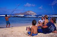 Fishing off Makapuu, Oahu; Mauka Makai eco tours