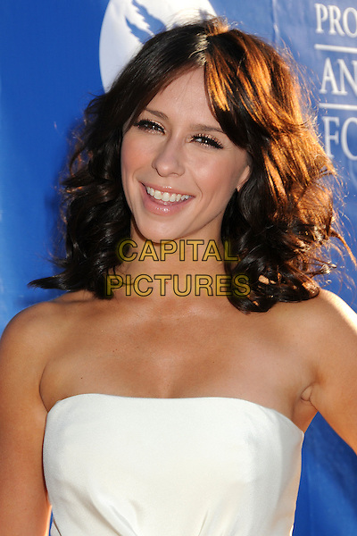 Jennifer Love Hewitt.Project Angel Food Presents the 2011 Angel Awards held at Project Angel Food, Los Angeles, California, USA, 20th August 2011.portrait headshot strapless white smiling .CAP/ADM/BP.©Byron Purvis/AdMedia/Capital Pictures.