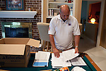 David Senko, a former construction manager at BP's Texas City refinery, at his home in Houston, Texas.  Eleven of the fifteen people killed in the blast on March 23, 2005, were working for Mr. Senko. Mr. Senko crusades for stronger safety measures for workers, and feels that BP has not been held accountable for the 2005 catastrophe.
