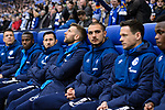 16.03.2019, VELTINS Arena, Gelsenkirchen, Deutschland, GER, 1. FBL, FC Schalke 04 vs. RB Leipzig<br /> <br /> DFL REGULATIONS PROHIBIT ANY USE OF PHOTOGRAPHS AS IMAGE SEQUENCES AND/OR QUASI-VIDEO.<br /> <br /> im Bild Guido Burgstaller (#19 Schalke) auf der Bank<br /> <br /> Foto © nordphoto / Kurth