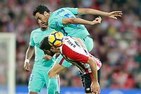 Athletic de Bilbao's Raul Garcia (d) and FC Barcelona's Sergio Busquets during La Liga match. October 28,2017. (ALTERPHOTOS/Acero) /NortePhoto.com