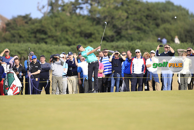 Ashley Chesters (ENG) on the 17th during the afternoon singles for the Walker cup Royal Lytham St Annes, Lytham St Annes, Lancashire, England. 13/09/2015<br /> Picture Golffile | Fran Caffrey<br /> <br /> <br /> All photo usage must carry mandatory copyright credit (&copy; Golffile | Fran Caffrey)