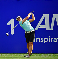 Brooke Henderson of Canada, plays her shot from the first tee during the Final round of the ANA Inspiration at the Mission Hills Country Club in Palm Desert, California, USA. 4/1/18.<br /> <br /> Picture: Golffile | Bruce Sherwood<br /> <br /> <br /> All photo usage must carry mandatory copyright credit (&copy; Golffile | Bruce Sherwood)during the second round of the ANA Inspiration at the Mission Hills Country Club in Palm Desert, California, USA. 4/1/18.<br /> <br /> Picture: Golffile | Bruce Sherwood<br /> <br /> <br /> All photo usage must carry mandatory copyright credit (&copy; Golffile | Bruce Sherwood)