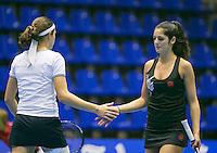 18-12-13,Netherlands, Rotterdam,  Topsportcentrum, Tennis Masters,  Rosalie van der Hoek  (L)and Valeria Podda<br /> Photo: Henk Koster
