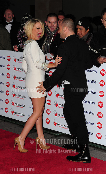 Sheridan Smith and Louis Spence arriving at the Grosvenor House Hotel for the 2010 Variety Club Awards. 14/11/2010  Picture by: Simon Burchell / Featureflash...