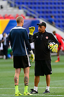 Harrison, NJ - Friday July 07, 2017: Milan Borjan during a 2017 CONCACAF Gold Cup Group A match between the men's national teams of French Guiana (GUF) and Canada (CAN) at Red Bull Arena.