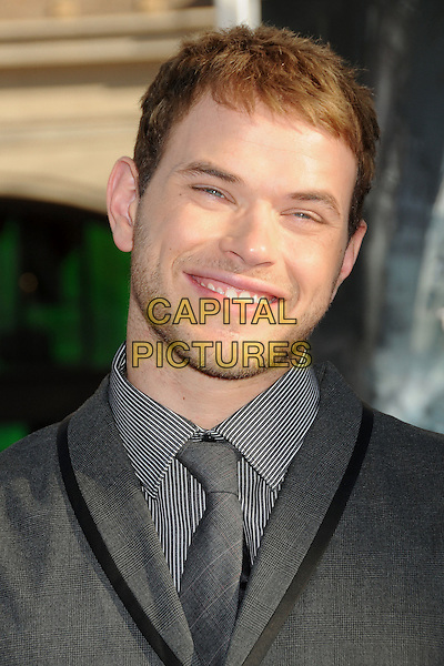 "KELLAN LUTZ .""Inception"" Los Angeles Film Premiere held at Grauman's Chinese Theatre, Hollywood, California, USA, .13th July 2010..portrait headshot beard facial hair stubble  grey gray tie shirt pinstripe striped smiling .CAP/ADM/BP.©Byron Purvis/AdMedia/Capital Pictures."