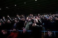 Wolverhampton Wanderers fans celebrate after their side scored a second goal<br /> <br /> Photographer Alex Dodd/CameraSport<br /> <br /> The Premier League - Wolverhampton Wanderers v Norwich City - Sunday 23rd February 2020 - Molineux - Wolverhampton<br /> <br /> World Copyright © 2020 CameraSport. All rights reserved. 43 Linden Ave. Countesthorpe. Leicester. England. LE8 5PG - Tel: +44 (0) 116 277 4147 - admin@camerasport.com - www.camerasport.com