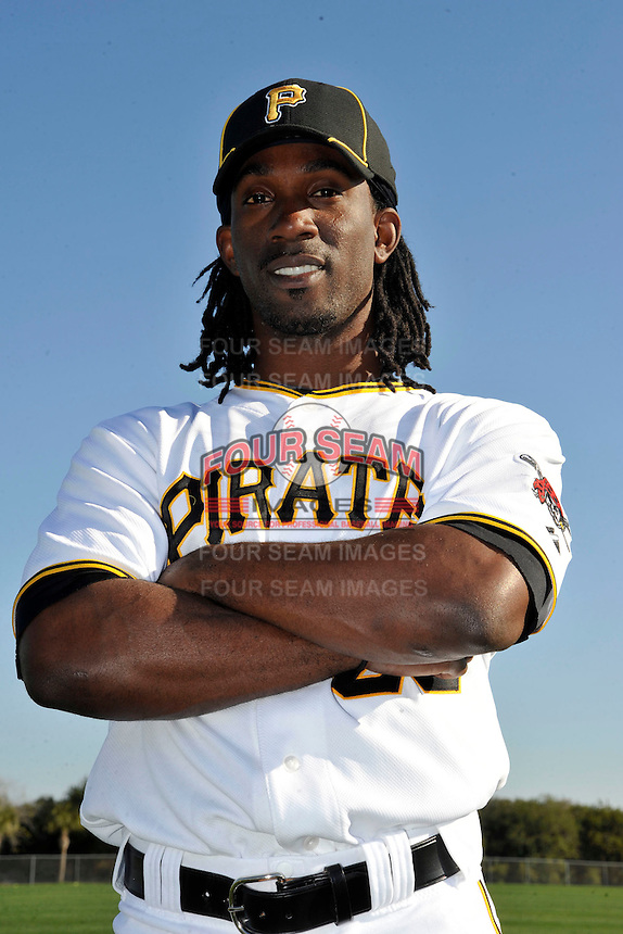 Feb 28, 2010; Bradenton, FL, USA; Pittsburgh Pirates  outfielder Andrew McCutchen (22) during  photoday at Pirate City. Mandatory Credit: Tomasso De Rosa/ Four Seam Images