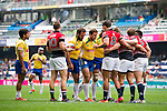 Hong Kong vs Brazil during their HSBC Sevens Wold Series Qualifier match as part of the Cathay Pacific / HSBC Hong Kong Sevens at the Hong Kong Stadium on 27 March 2015 in Hong Kong, China. Photo by Juan Manuel Serrano / Power Sport Images