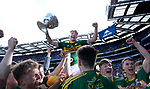 17-1-2017: Four goal here and Man of the Match David Clifford is hoisted high by fellow players following victory in the All-Ireland Football final at Croke Park on Sunday.<br /> Photo: Don MacMonagle