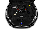 Car Stock 2019 Maserati Gran-Cabrio Sport 2 Door Convertible Engine  high angle detail view