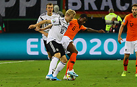 Julian Brandt (Deutschland Germany) gegen Georginio Wijnaldum (Niederlande) - 06.09.2019: Deutschland vs. Niederlande, Volksparkstadion Hamburg, EM-Qualifikation DISCLAIMER: DFB regulations prohibit any use of photographs as image sequences and/or quasi-video.