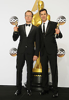 28 February 2016 - Hollywood, California - Josh Singer, Tom McCarthy. 88th Annual Academy Awards presented by the Academy of Motion Picture Arts and Sciences held at Hollywood & Highland Center. Photo Credit: Byron Purvis/AdMedia