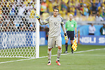 Julio Cesar (BRA), JUNE 28, 2014 - Football / Soccer : Julio Cesar celebrates after stop penalty kick during the FIFA World Cup Brazil 2014 round of 16 match between Brazil and Chile at the Mineirao Stadium in Belo Horizonte, Brazil. (Photo by AFLO)