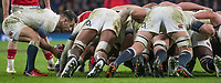 Twickenham, Surrey. UK. Danny CARE, putting the ball in to the  scrum,  during the Six Nations Rugby Match, England vs Wales RFU Stadium, Twickenham. Surrey, England. on Saturday 10.02.18<br /> <br /> <br /> [Mandatory Credit Peter SPURRIER/Intersport Images]