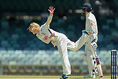 November 4th 2017, WACA Ground, Perth Australia; International cricket tour, Western Australia versus England, day 1; Kyle Gardiner bowls his leg spin during Englands first innings